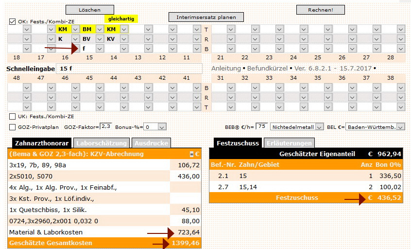 Zahnersatz online kalkulieren